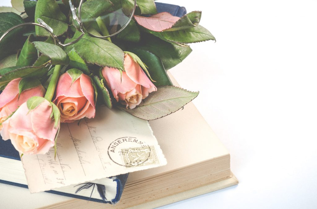 pink rose flowers on top of books 2008142 1 1024x675 1